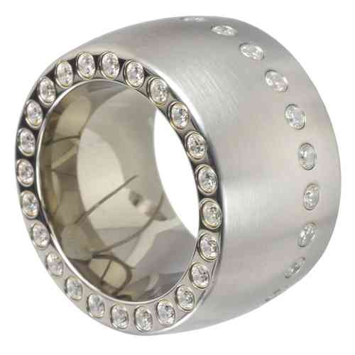 Duo-Memoire Ring 15 mm Zirkonia