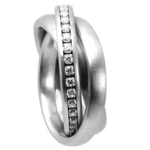 Trilogie 3er Ring 4 mm - Zirkonia