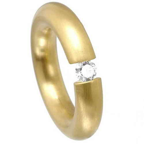 Spannring 5,5 mm PVD Gold matt Zirkonia