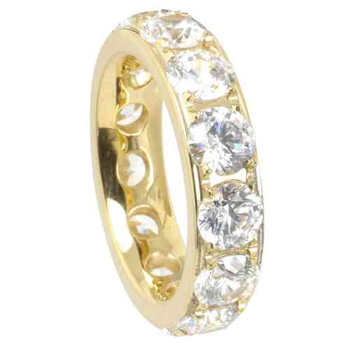 Eyecatcher Ring Memoire PVD Gold 5 mm