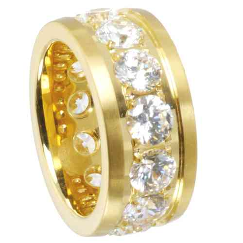 Eyecatcher Ring Memoire - PVD Gold