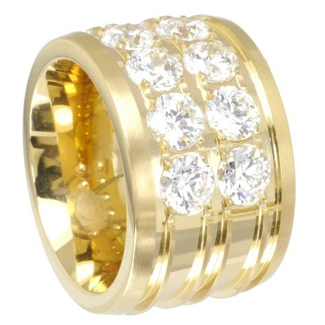 Eyecatcher Ring Duo-Memoire PVD Gold