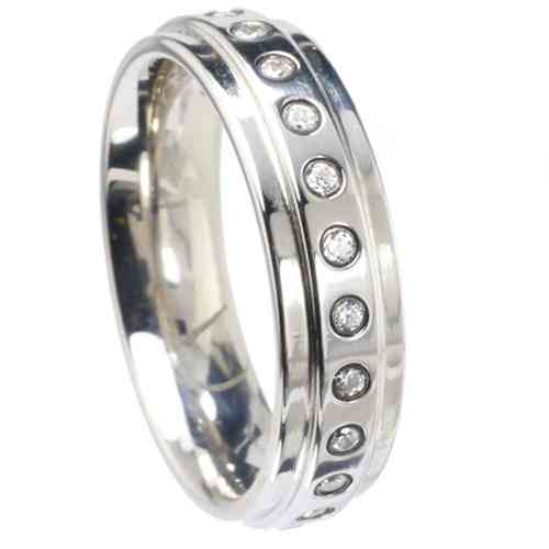 Ring Step Memoire 6 mm - Zirkonia
