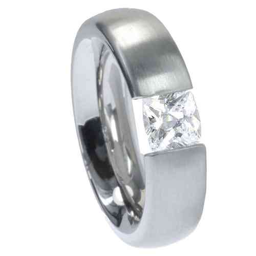 Ring Radiant 6 mm matt - Zirkonia