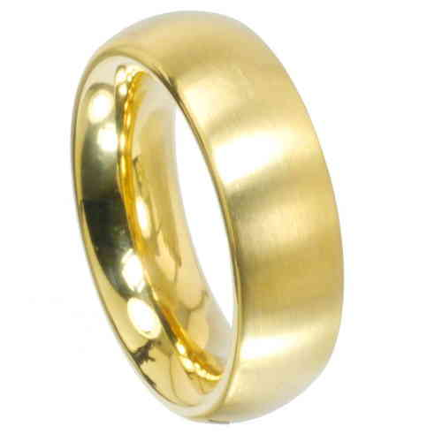Ring Radiant PVD Gold 6 mm matt