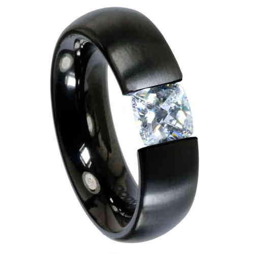 Ring Radiant PVD Black 6 mm matt - Zirkonia