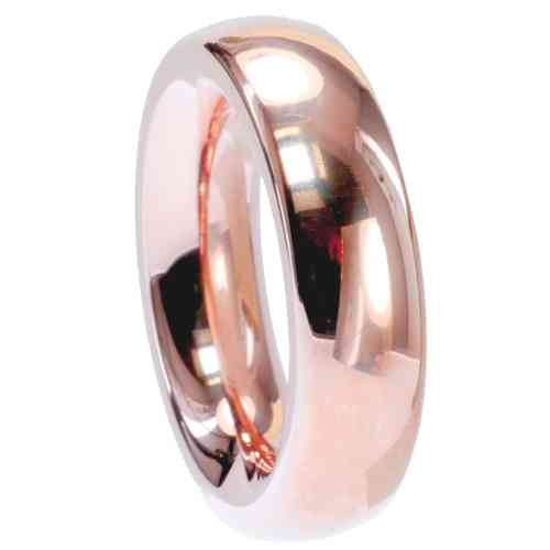 Ring Radiant Rosègold vergoldet 6 mm poliert