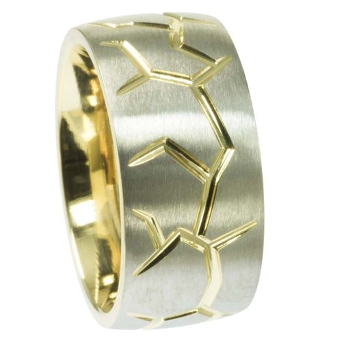 Bandring Bicolor PVD Gold 10 mm