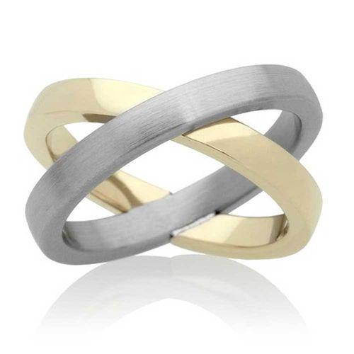 Eyecatcher Ring Bridge - Bicolor Edelstahl PVD Gold