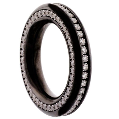 Reifring Duo-Memoire - PVD Black poliert - 5,5 mm - Zirkonia