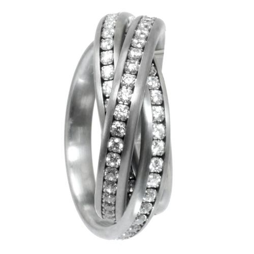 Eyecatcher Trilogie Memoire - 3er Ring - 4 mm - Zirkonia