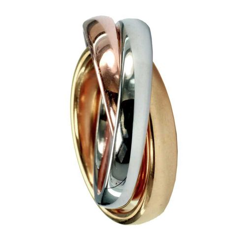 Trilogie - 3er Ring - 4 mm - Tricolor