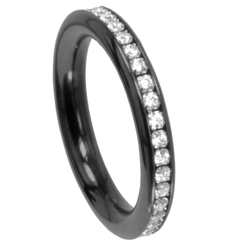 Ring Changes Memoire - PVD schwarz matt - 3,5 mm - Zirkonia