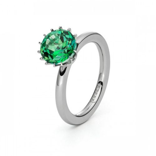 Solitaire Ring - Cocktailring - Topas Green Miracle
