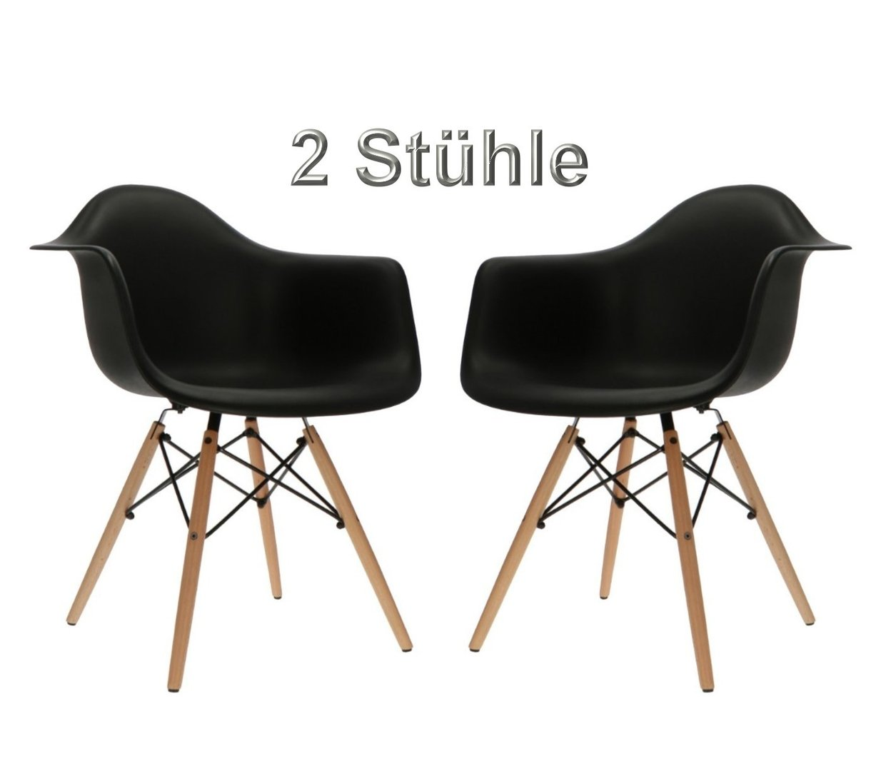 Shell Chair Dining Chairs Scandinavian Design Set Of 2 In Black Rich Infusions Special Products For Special People