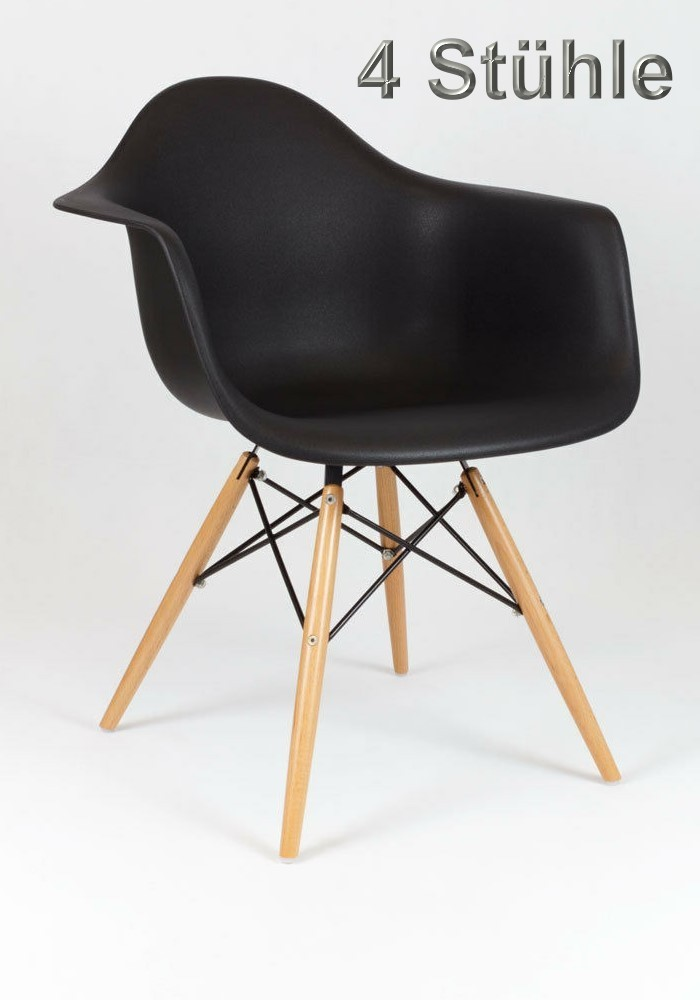 Shell Chair Dining Chairs Scandinavian Design Set Of 4 In Black Rich Infusions Special Products For Special People