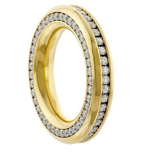 Reifring Duo-Memoire - Goldplattiert poliert - 5,5 mm - Zirkonia
