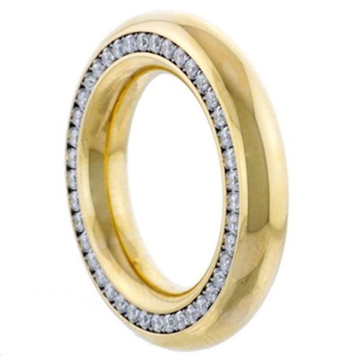 Reifring Memoire - Goldplattiert poliert - 5,5 mm - Zirkonia